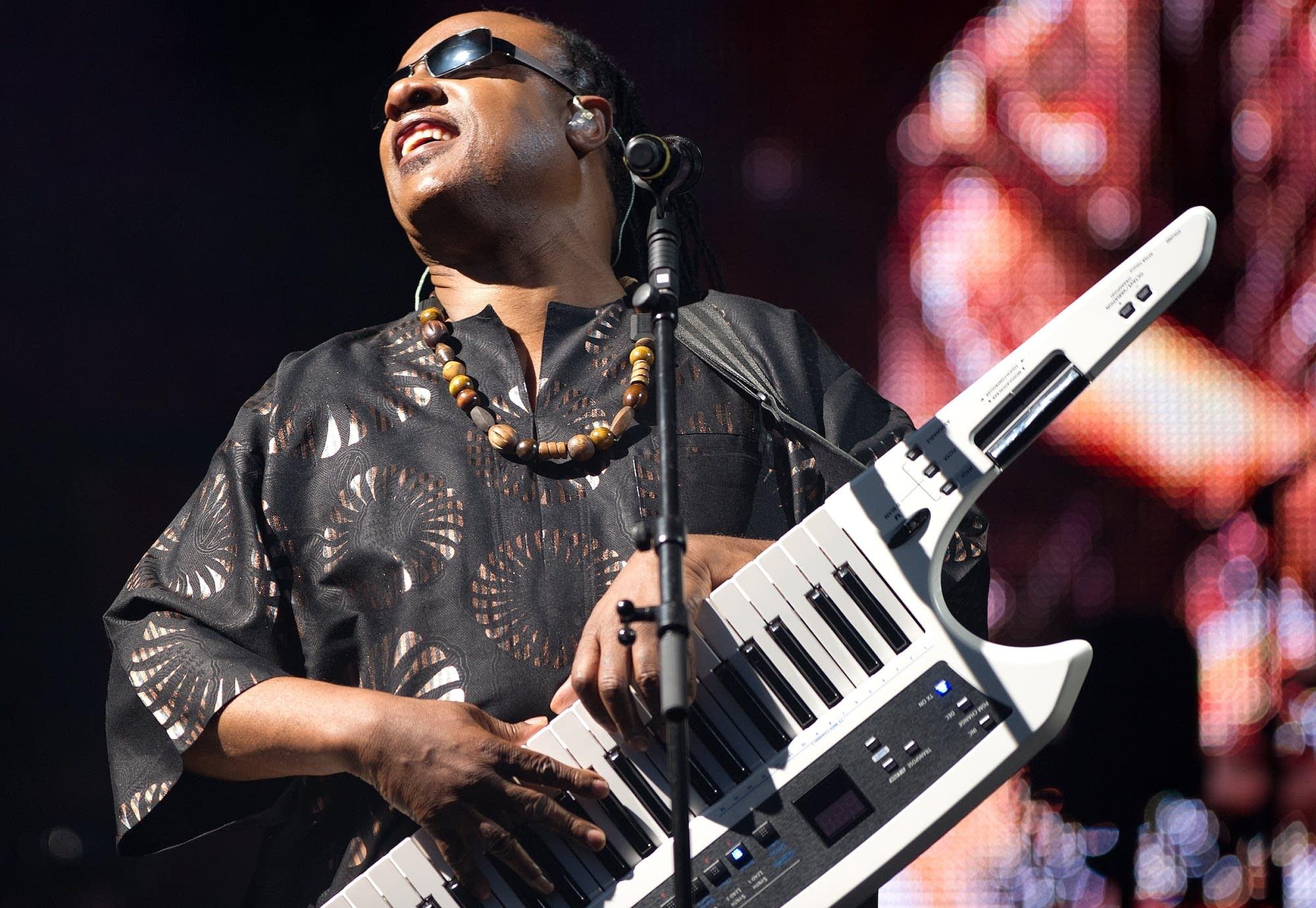 Stevie Wonder performs in 2017.