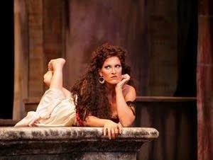 Audrey Babcock as Carmen.