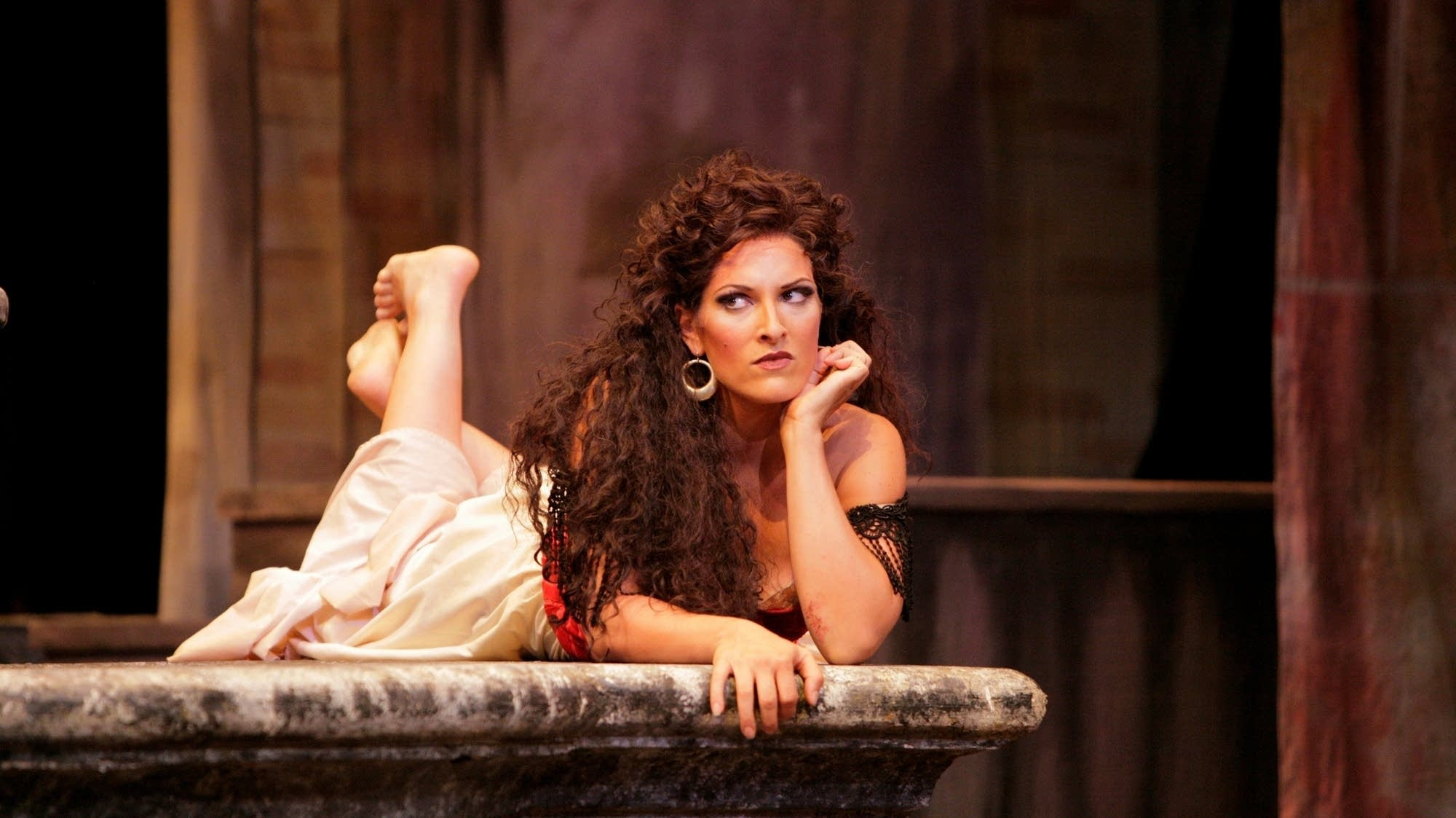 Audrey Babcock as Carmen.