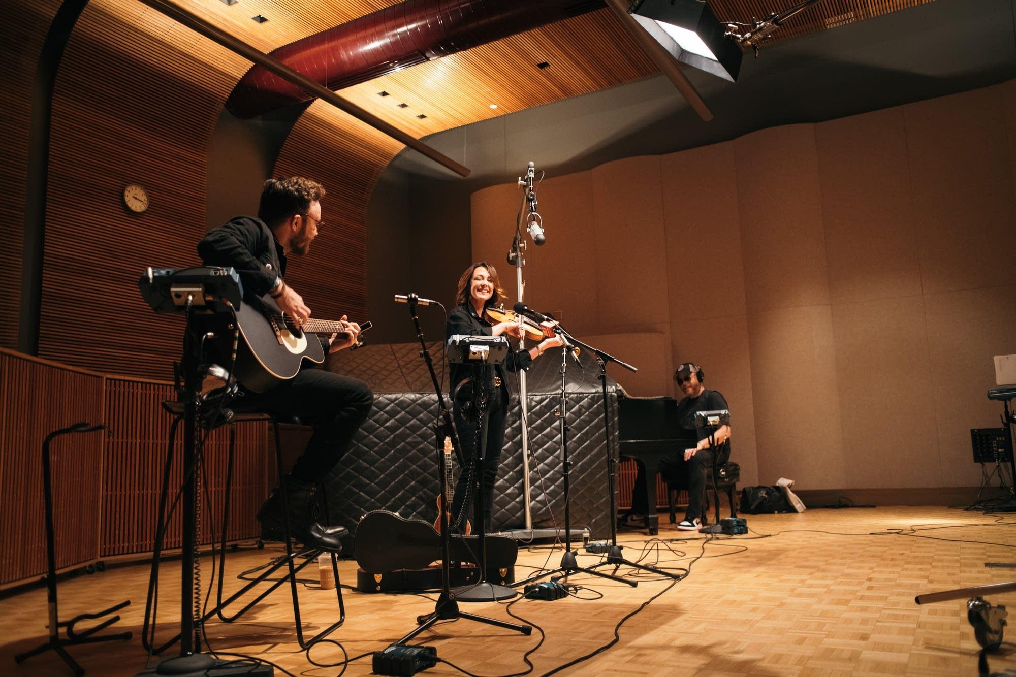 Amanda Shires performs in The Current studio