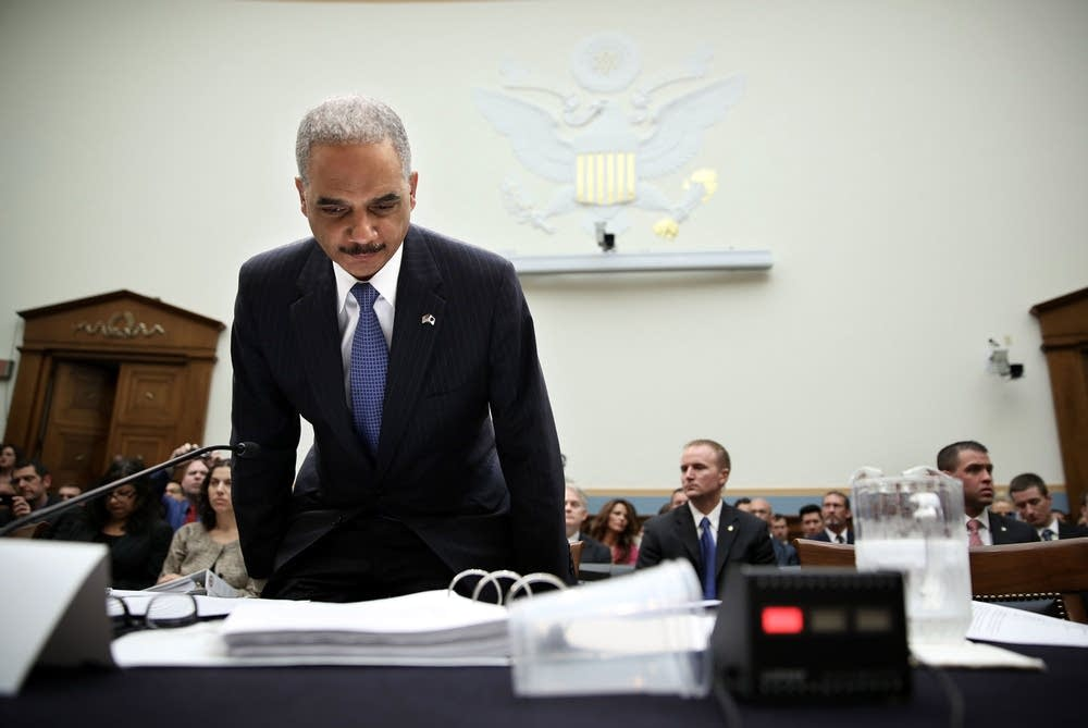 Eric Holder testifies