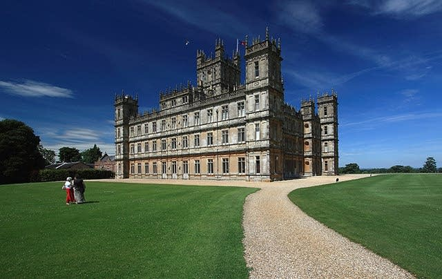 Highclere Castle in Hampshire, England