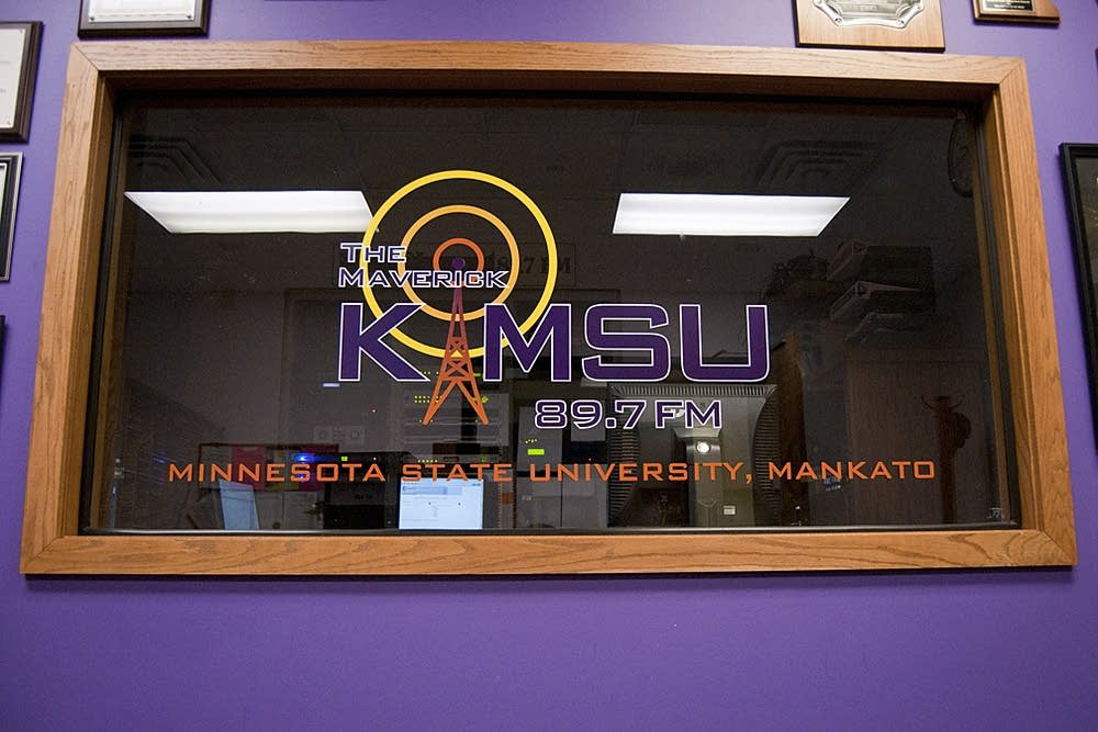 KMSU's logo in Mankato