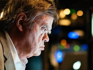 Garrison Keillor looks over scripts in Nashville