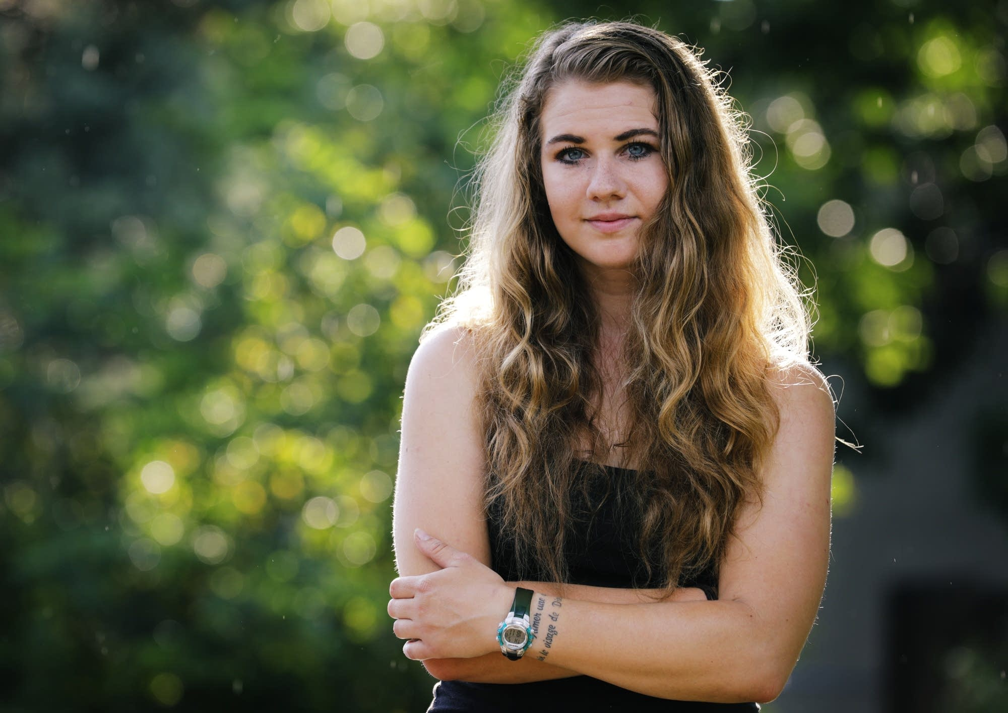 Laura Knoblach, an accomplished triathlete, at her home in Boulder, Colo.