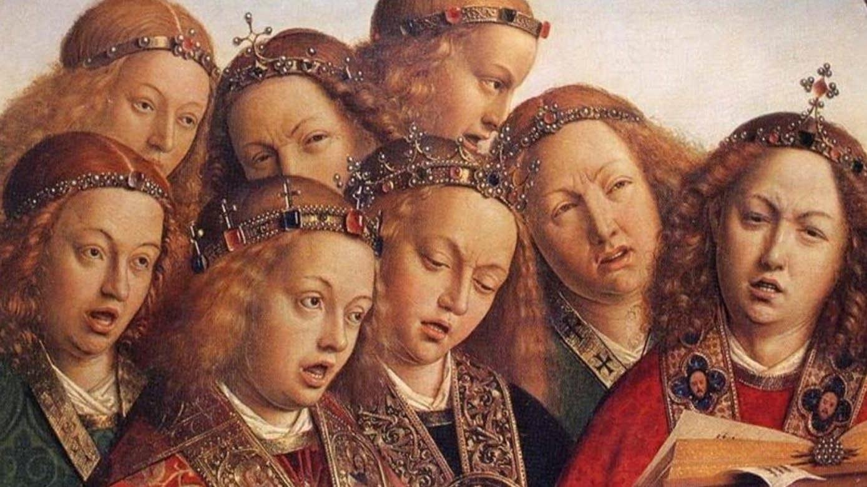 The Ghent Altarpiece: Singing Angels (detail) by Jan van Eyck