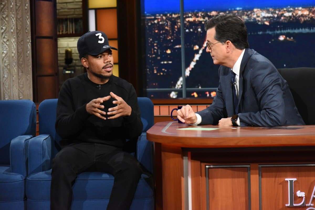 The Late Show with Stephen Colbert and guest Chance the Rapper