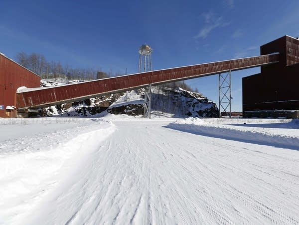 A former iron ore processing plant near Hoyt Lakes, Minn.