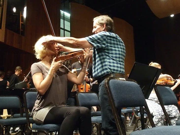 Dessa, not dropping Roger Frisch's very fine violin.