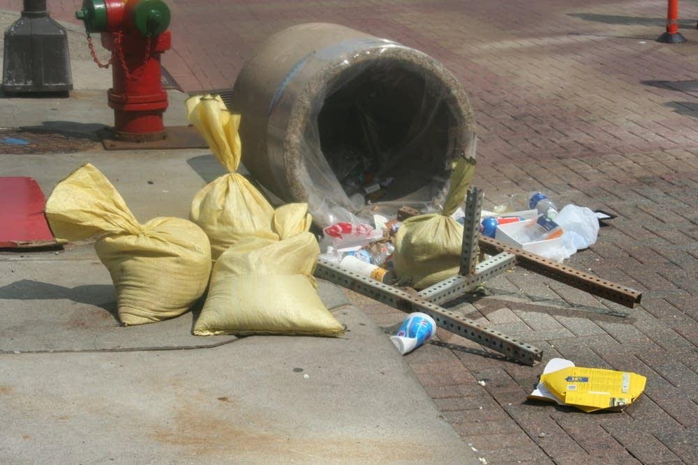 Scattered trash
