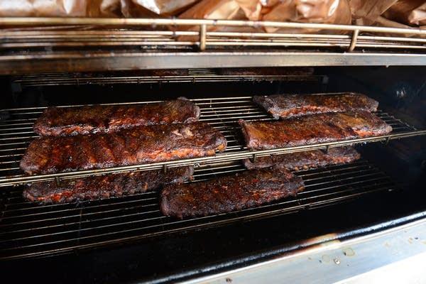 The St. Louis-style pork ribs at OMC Smokehouse.
