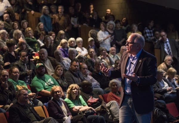 Rep. Tim Walz held a town hall meeting in Rochester.