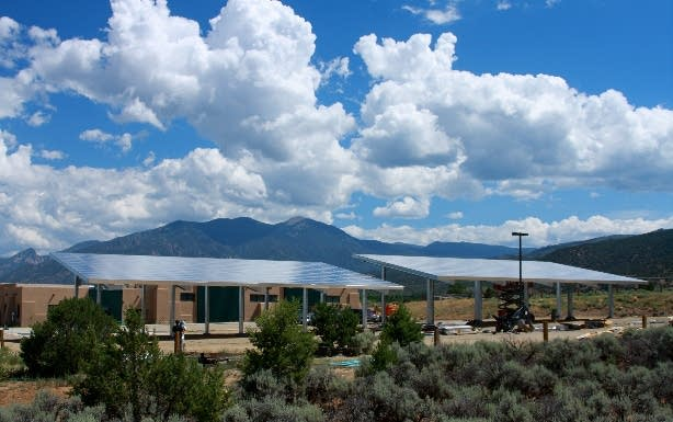 Solar panels in Taos, N.M.