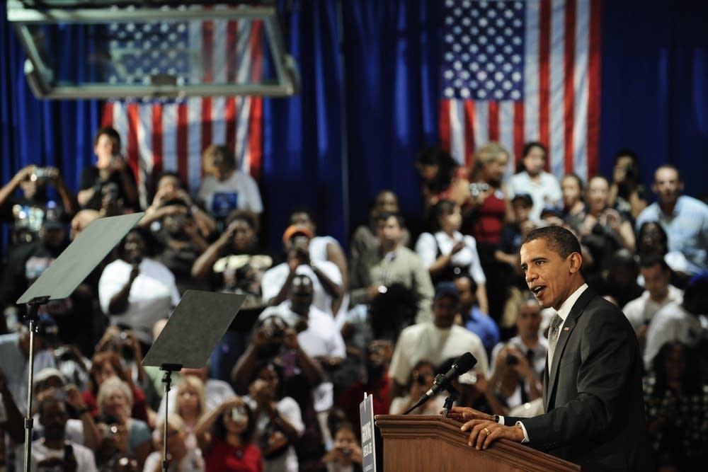 Democratic candidate Barack Obama in Florida
