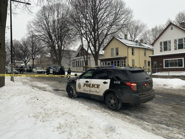 Police respond to a shooting scene