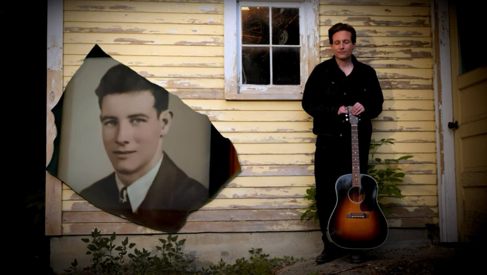 Still from Matthew French video for 'Man in the Yellow Chair'