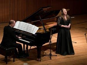 Mezzo-soprano Clara Osowski and pianist Tyler Wottrich