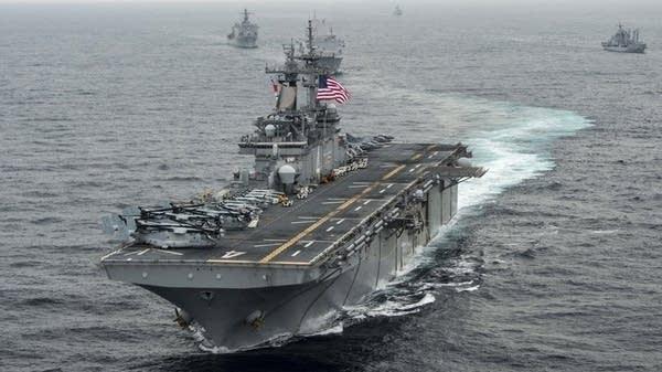 The amphibious assault ship USS Boxer