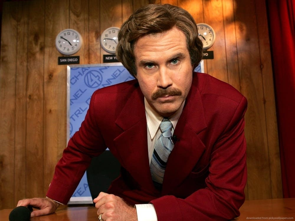 "Will Ferrell in ""Anchorman 2"""