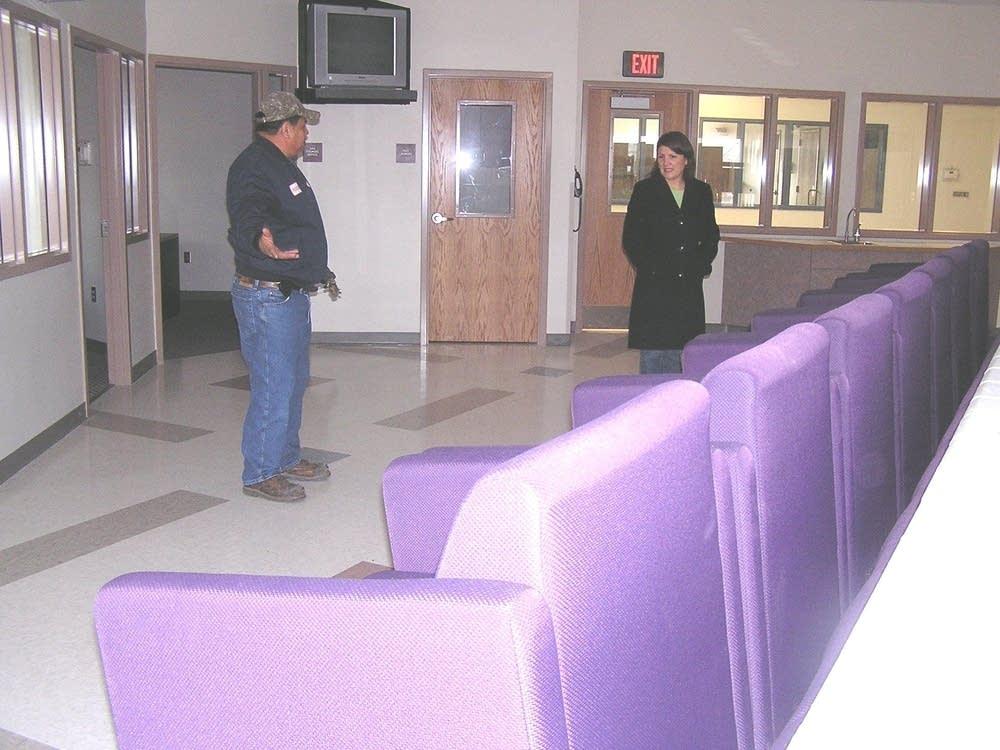 Inside the detention center