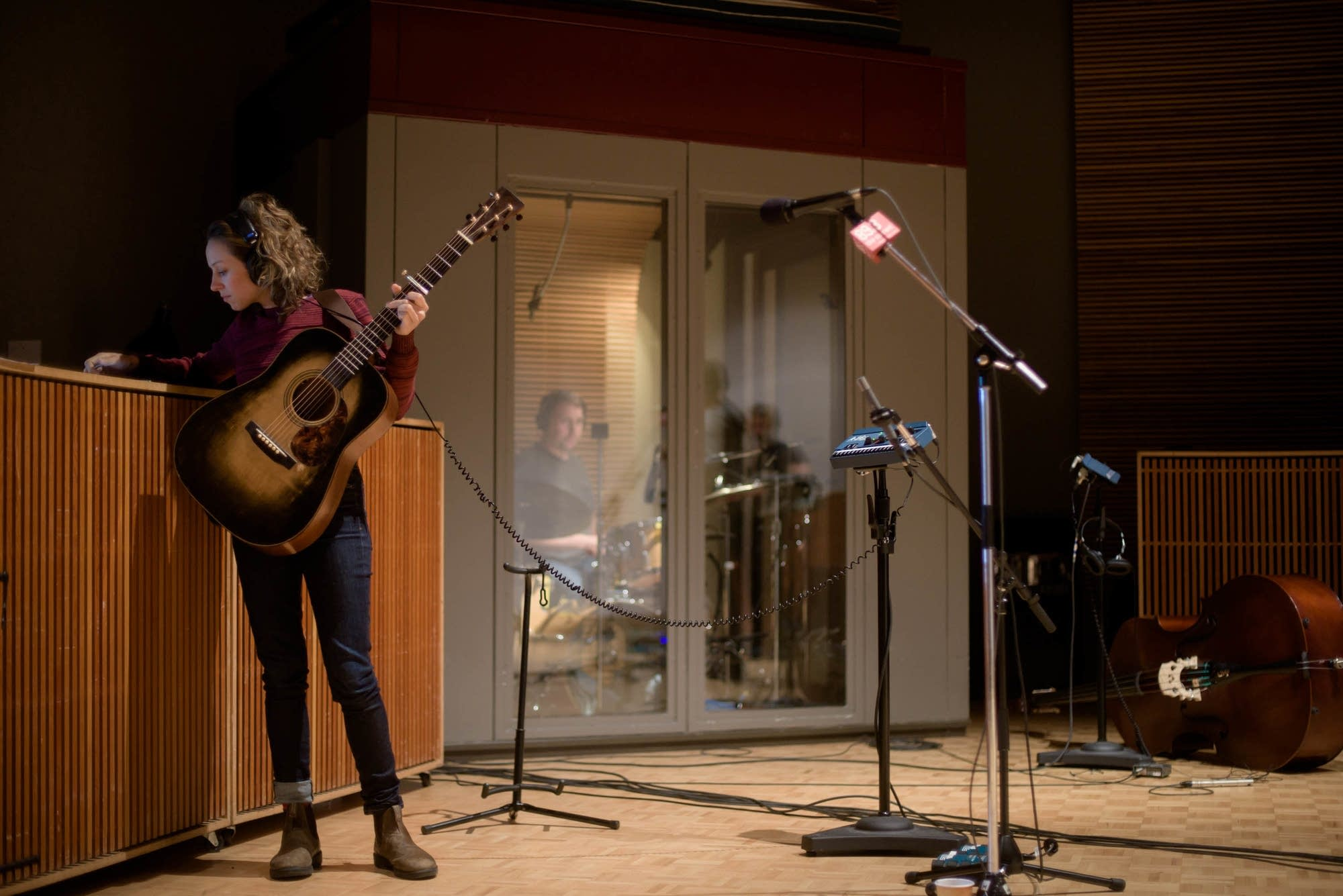 Mandolin Orange in studio