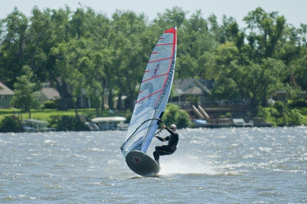 U.S. windsurfing championship on Okabena