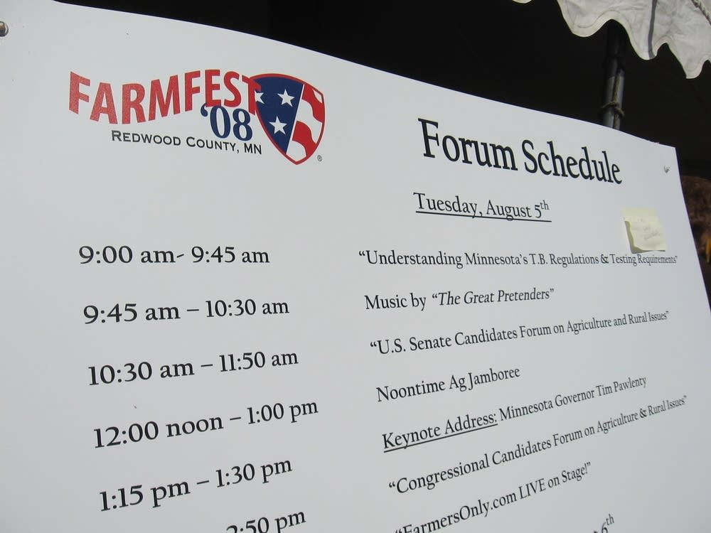 Farm Fest schedule