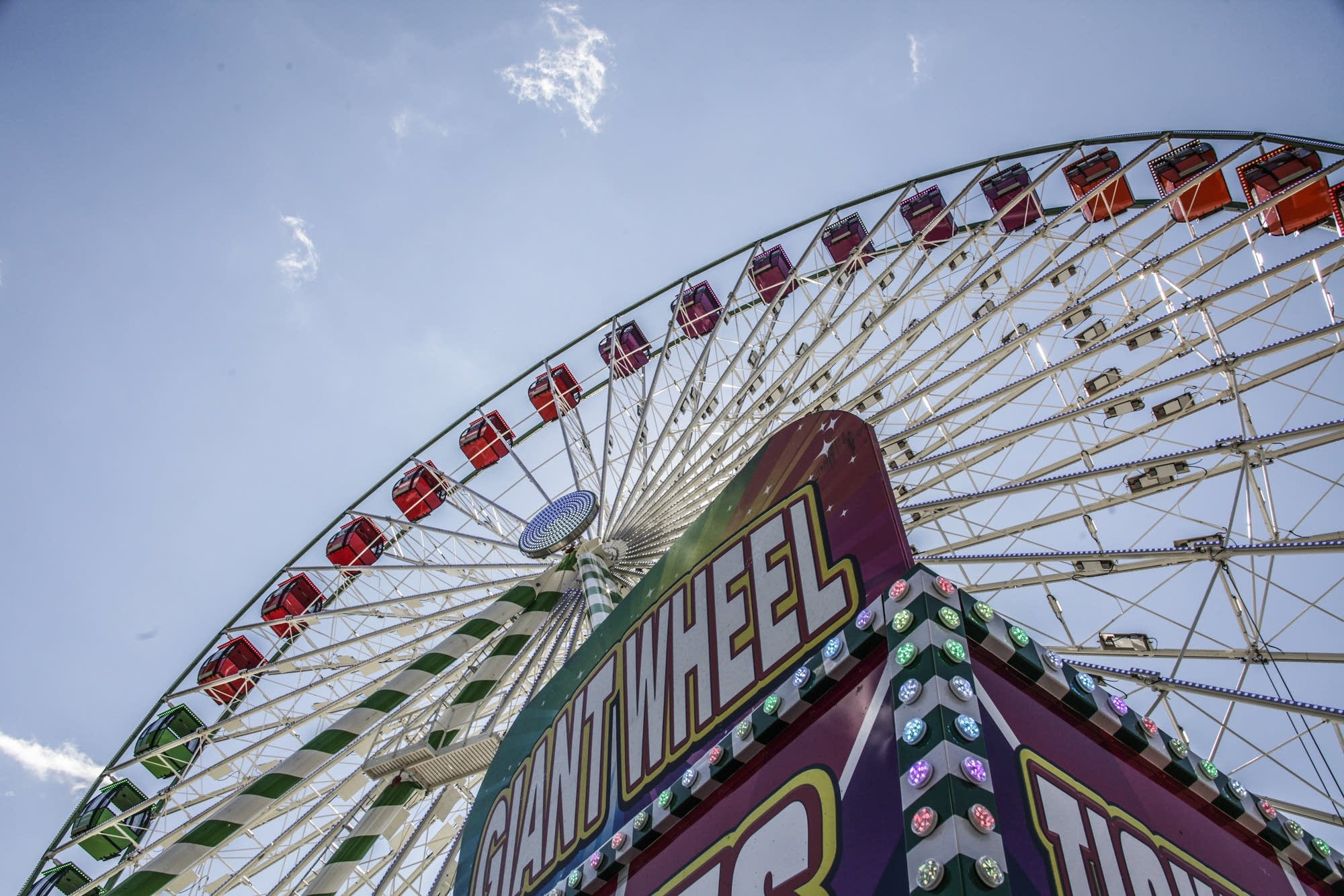 The Big Wheel is the largest portable wheel in North America.