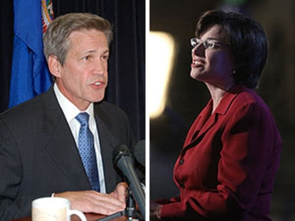 Senators Norm Coleman and Amy Klobuchar