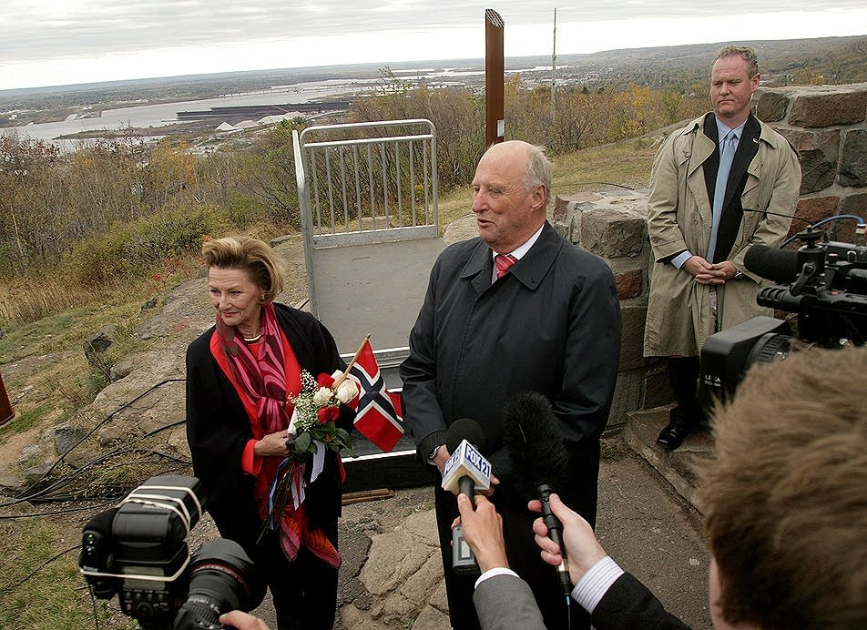 Norway's King Harald V and Queen Sonja