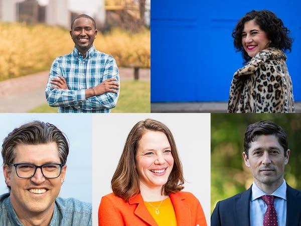 headshots of five minneapolis mayoral candidates