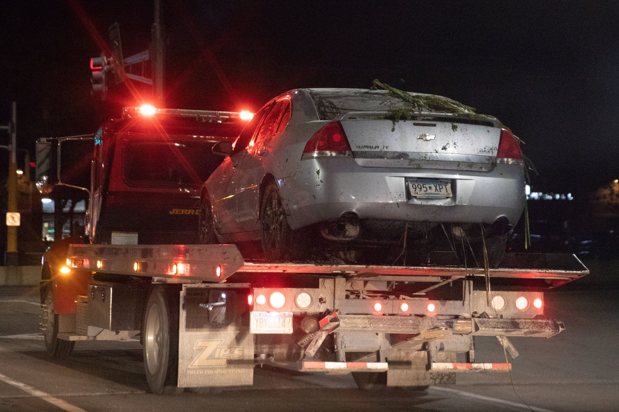 The vehicle police pulled from a Chaska pond after a search for two women.