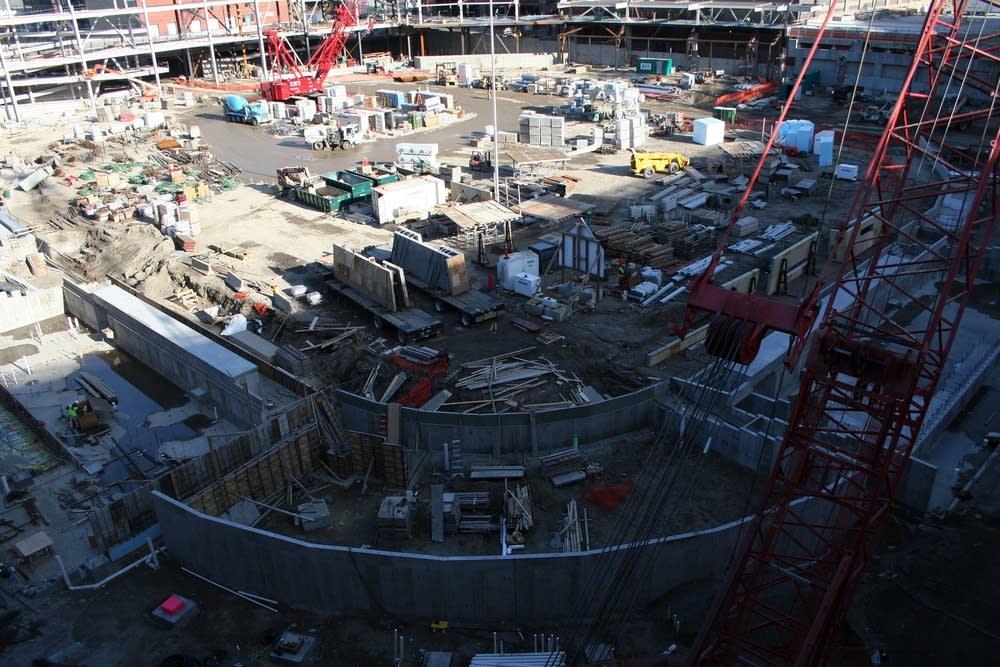 Target Field under construction