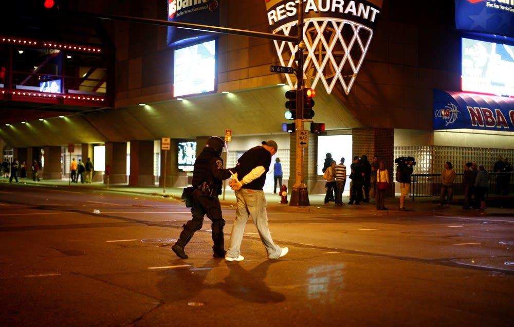 Man arrested outside concert