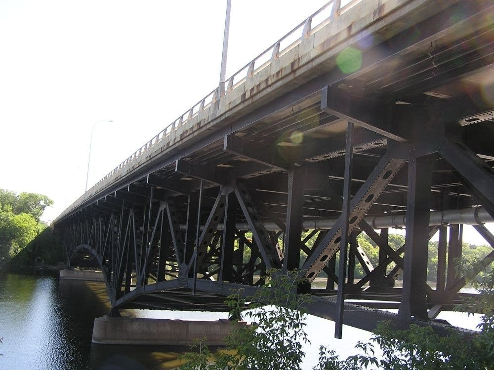 Underside of bridge