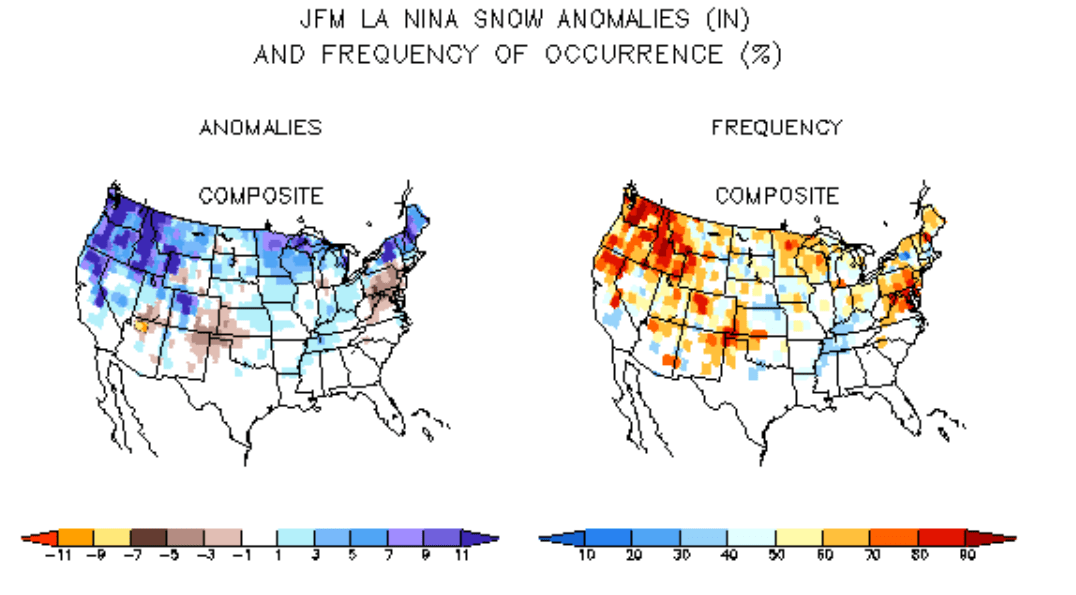La Nina winter snow