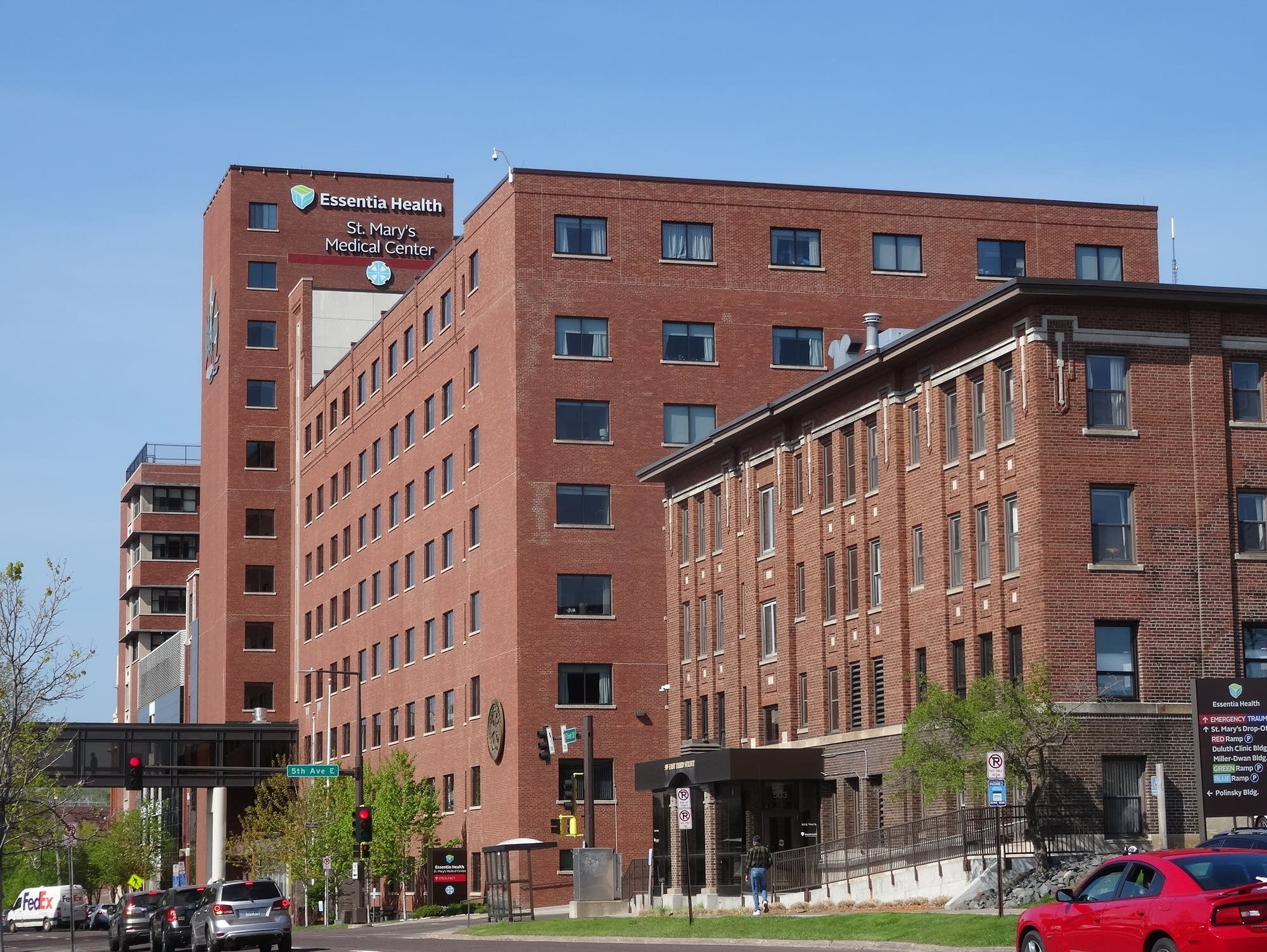 The old Essentia St. Mary's hospital in Duluth will be demolished.