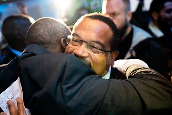 Keith Ellison celebrates winning Minnesota attorney general.