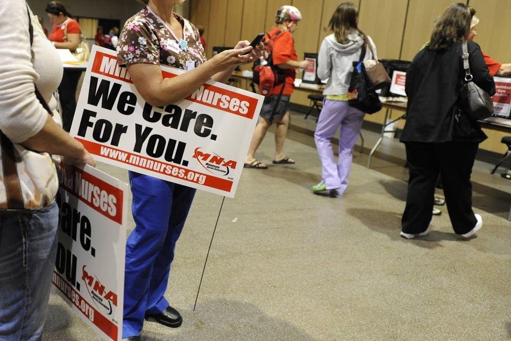 Nurse strike vote