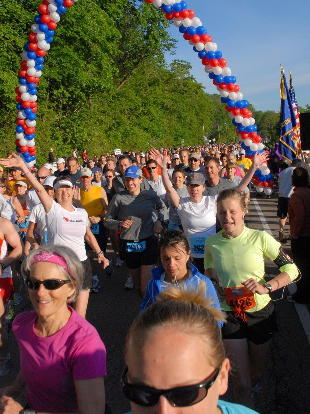 Start of the Stillwater Marathon