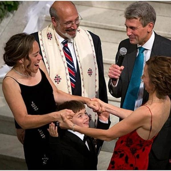 First same sex couple married