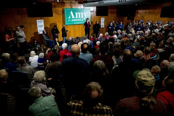 Democratic presidential candidate Sen. Amy Klobuchar in Iowa.