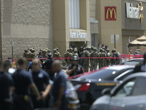 Law enforcement officers respond to a mass shooting