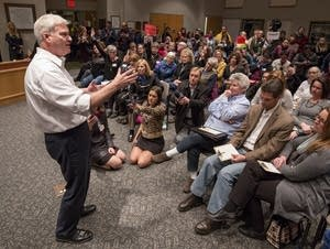 U.S. Rep Tom Emmer held a town hall style meeting Wednesday.