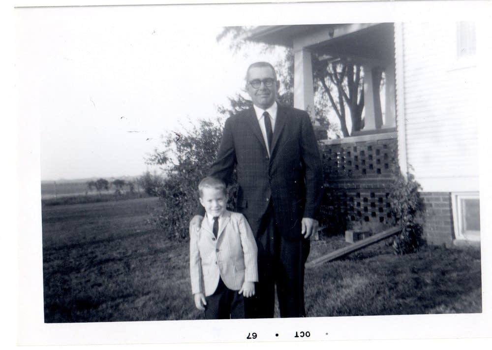 Ward Jacobson with his father, 1967