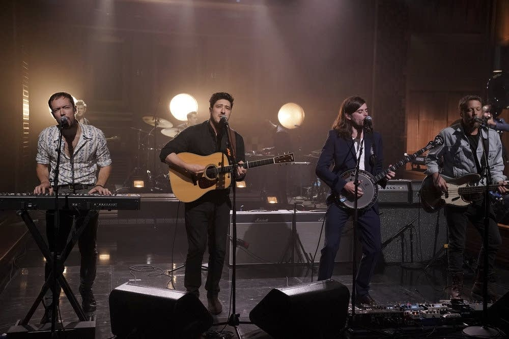 Mumford and Sons perform on 'The Tonight Show Starring Jimmy Fallon'
