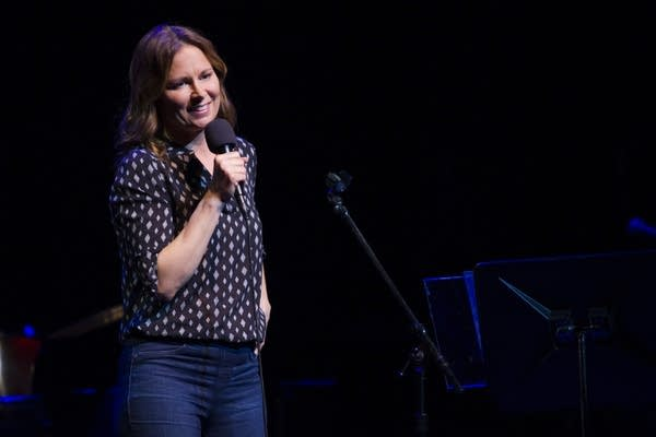 Mary Lynn Rajskub performs on Live from Here.