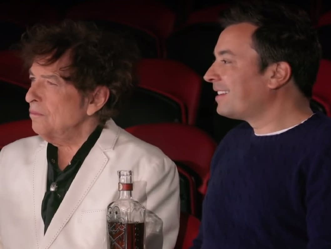 Bob Dylan and Jimmy Fallon attend the Big Apple Circus.