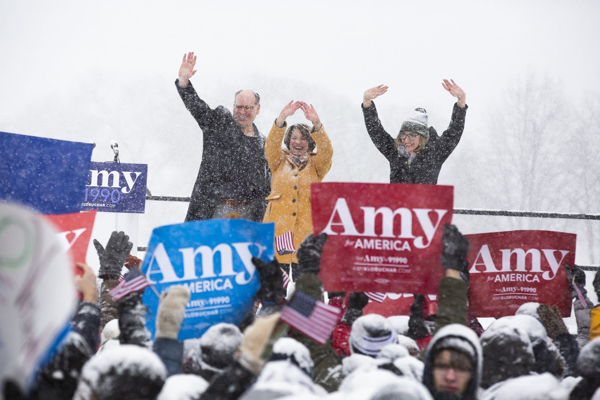 U.S. Sen. Amy Klobuchar, husband, John D. Bessler, Lt. Gov. Peggy Flanagan
