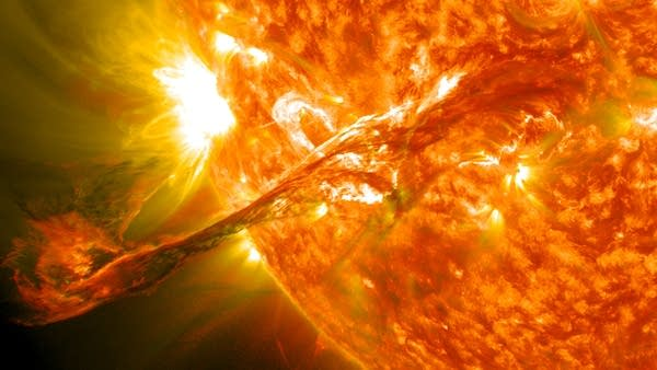 A coronal mass ejection, Aug. 12, 2012.